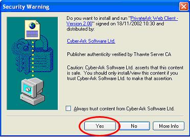 PrivateArk Web Client